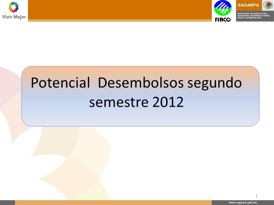 Potencial Desembolsos segundo semestre 2012 1
