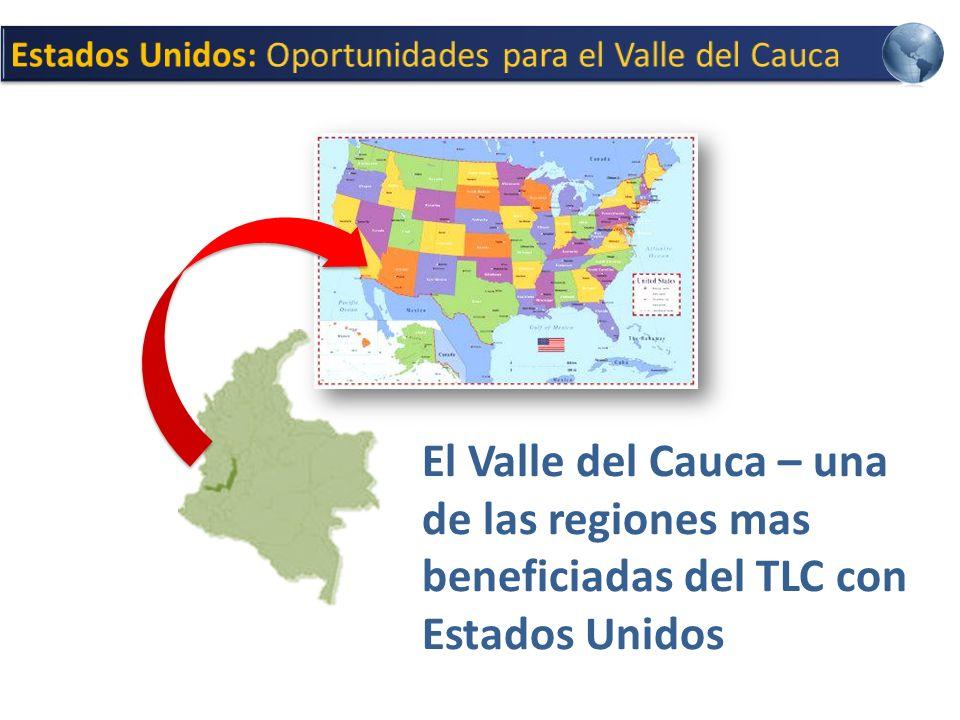 El Valle del Cauca – una de las regiones mas beneficiadas del TLC con Estados Unidos