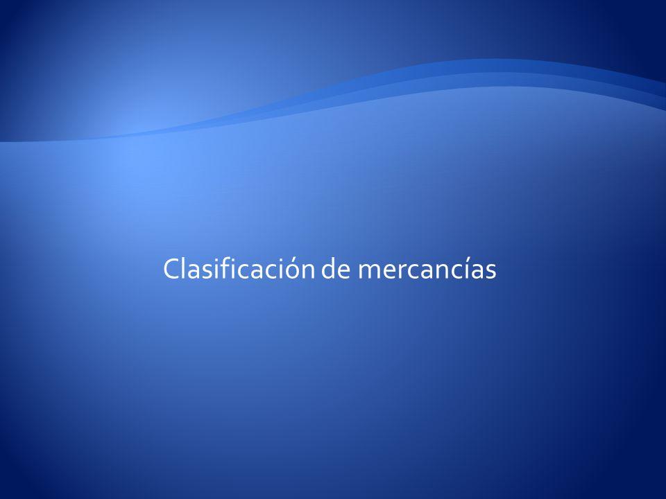 Clasificación de mercancías
