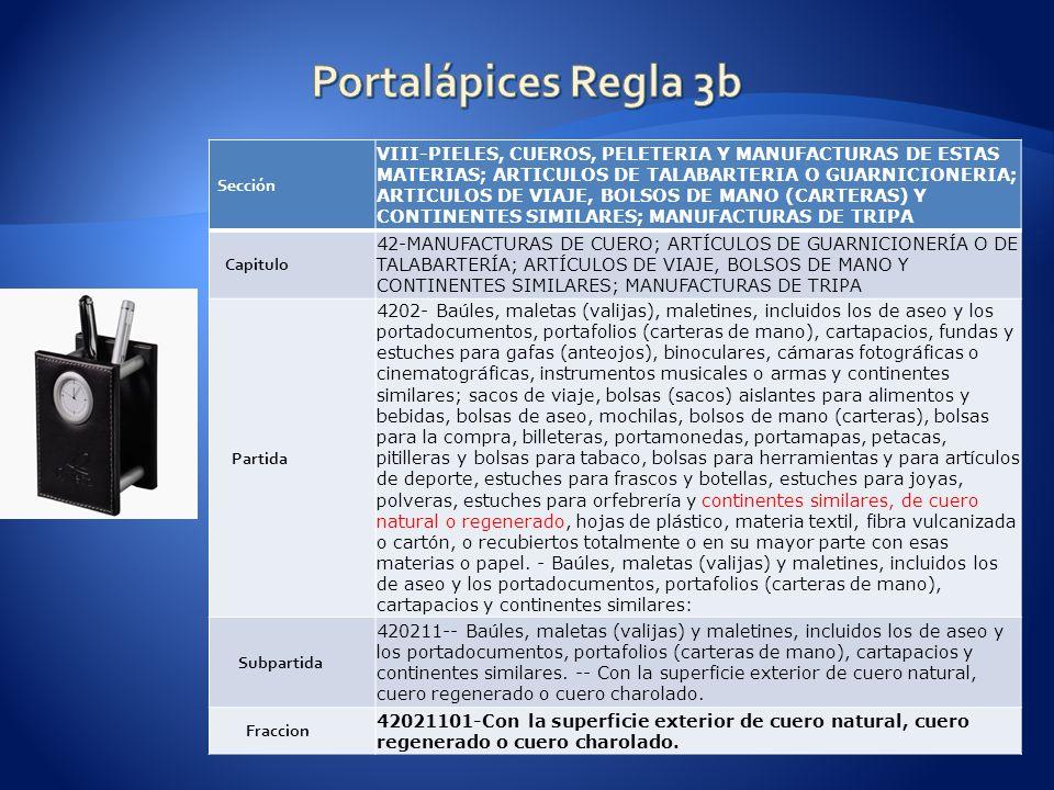 Sección VIII-PIELES, CUEROS, PELETERIA Y MANUFACTURAS DE ESTAS MATERIAS; ARTICULOS DE TALABARTERIA O GUARNICIONERIA; ARTICULOS DE VIAJE, BOLSOS DE MANO (CARTERAS) Y CONTINENTES SIMILARES; MANUFACTURAS DE TRIPA Capitulo 42-MANUFACTURAS DE CUERO; ARTÍCULOS DE GUARNICIONERÍA O DE TALABARTERÍA; ARTÍCULOS DE VIAJE, BOLSOS DE MANO Y CONTINENTES SIMILARES; MANUFACTURAS DE TRIPA Partida 4202- Baúles, maletas (valijas), maletines, incluidos los de aseo y los portadocumentos, portafolios (carteras de mano), cartapacios, fundas y estuches para gafas (anteojos), binoculares, cámaras fotográficas o cinematográficas, instrumentos musicales o armas y continentes similares; sacos de viaje, bolsas (sacos) aislantes para alimentos y bebidas, bolsas de aseo, mochilas, bolsos de mano (carteras), bolsas para la compra, billeteras, portamonedas, portamapas, petacas, pitilleras y bolsas para tabaco, bolsas para herramientas y para artículos de deporte, estuches para frascos y botellas, estuches para joyas, polveras, estuches para orfebrería y continentes similares, de cuero natural o regenerado, hojas de plástico, materia textil, fibra vulcanizada o cartón, o recubiertos totalmente o en su mayor parte con esas materias o papel.