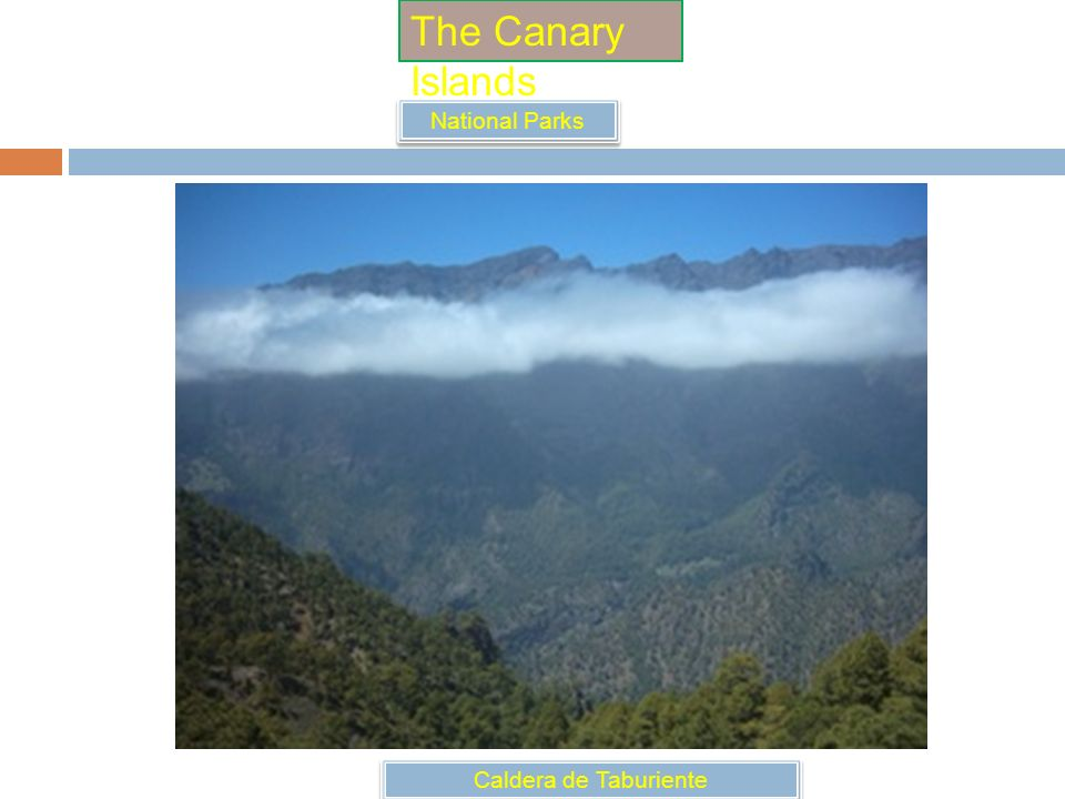 The Canary Islands National Parks Caldera de Taburiente
