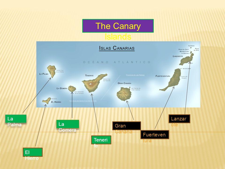 The Canary Islands La Palma El Hierro La Gomera Teneri fe Gran Canaria Fuerteven tura Lanzar ote