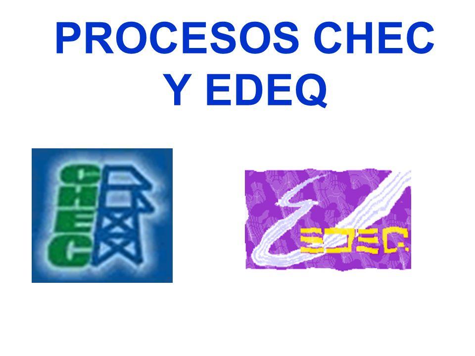 PROCESOS CHEC Y EDEQ