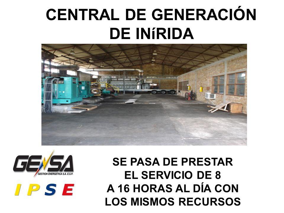 CENTRAL DE GENERACIÓN DE INíRIDA SE PASA DE PRESTAR EL SERVICIO DE 8 A 16 HORAS AL DÍA CON LOS MISMOS RECURSOS