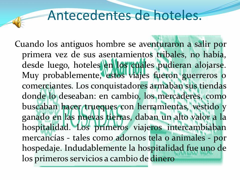 Calidad de servicios Hotel Metropolitano World Class Service Mid-Range Service Economic service Clasificación de hoteles Ubicación En centros vacacionales: balnearios o parques de atracciones Hotel de Playa Hotel de Aeropuerto