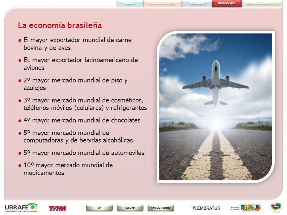 INDICADORES FERIAS DE NEGOCIOS RELACIONES BILATERALES CALENDARIO EN LOS MEDIOS CIUDAD SP UBRAFE La economía brasileña El mayor exportador mundial de c