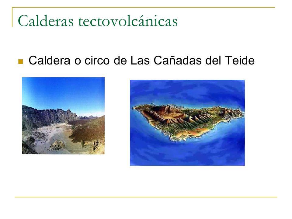 Calderas tectovolcánicas Caldera o circo de Las Cañadas del Teide