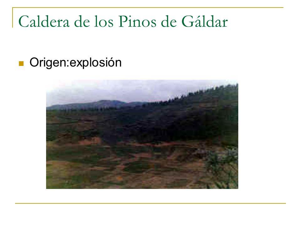Caldera de los Pinos de Gáldar Origen:explosión