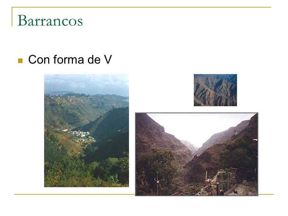 Barrancos Con forma de V
