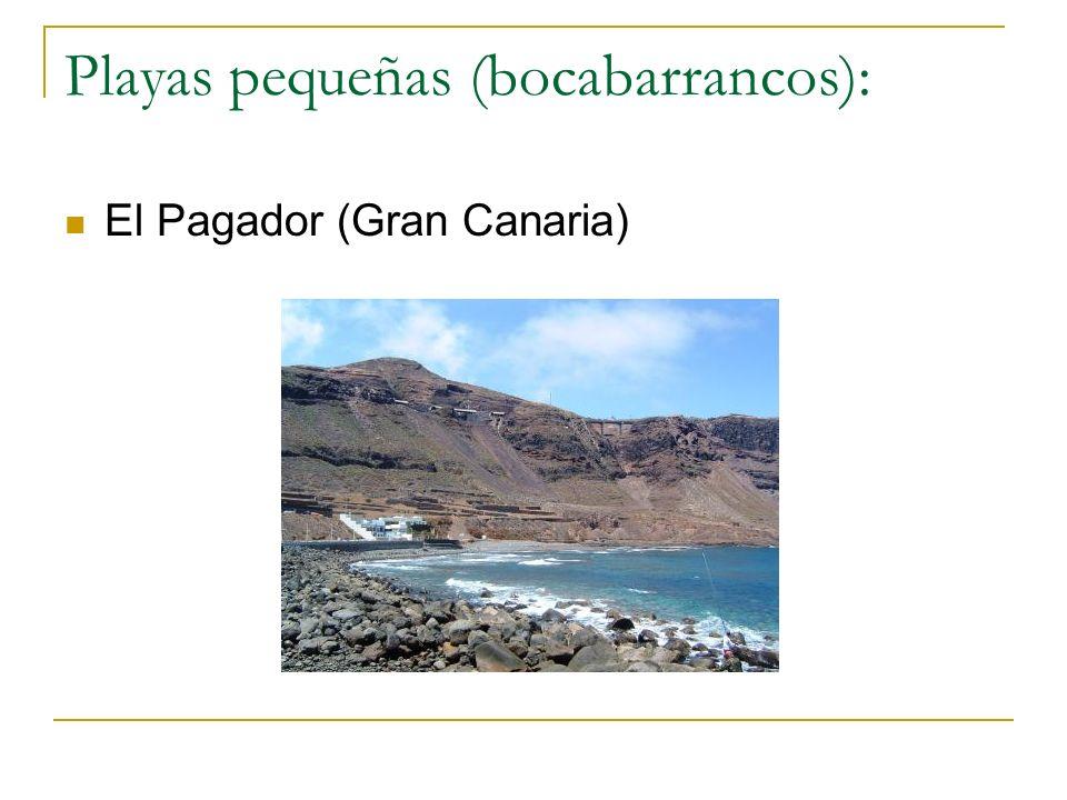 Playas pequeñas (bocabarrancos): El Pagador (Gran Canaria)