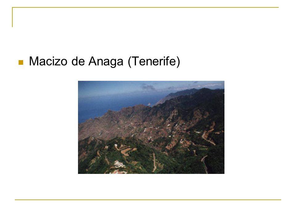 Productos volcánicos: cenizas Capas de cenizas volcánicas (Teide)