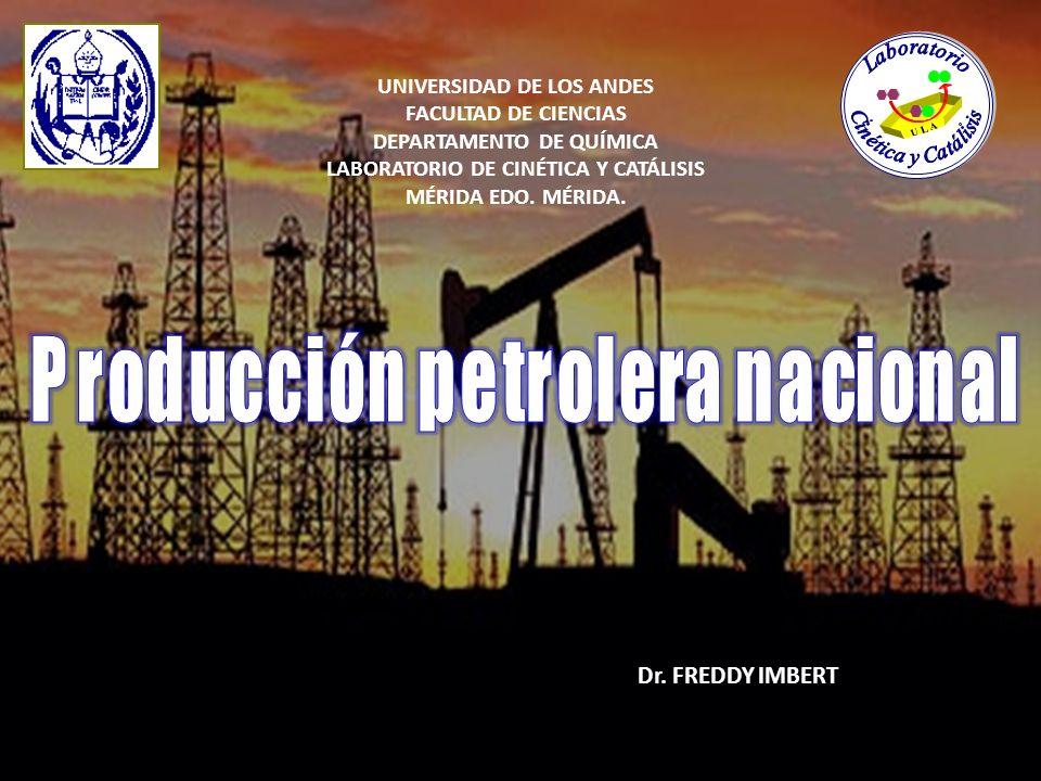 UNIVERSIDAD DE LOS ANDES FACULTAD DE CIENCIAS DEPARTAMENTO DE QUÍMICA LABORATORIO DE CINÉTICA Y CATÁLISIS MÉRIDA EDO. MÉRIDA. Dr. FREDDY IMBERT