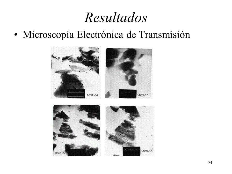94 Resultados Microscopía Electrónica de Transmisión
