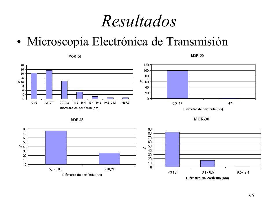 95 Resultados Microscopía Electrónica de Transmisión