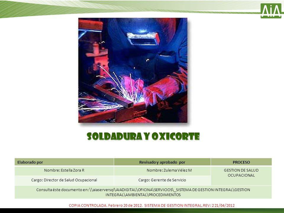 SOLDADURA AUTOGENA Y OXICORTE En este tipo de soldadura, así como en el oxicorte, la fuente de calor proviene de la combustión de un gas, que en muchos casos el acetileno..