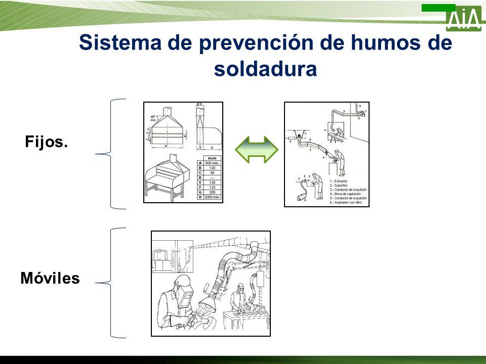 Sistema de prevención de humos de soldadura Fijos. Móviles