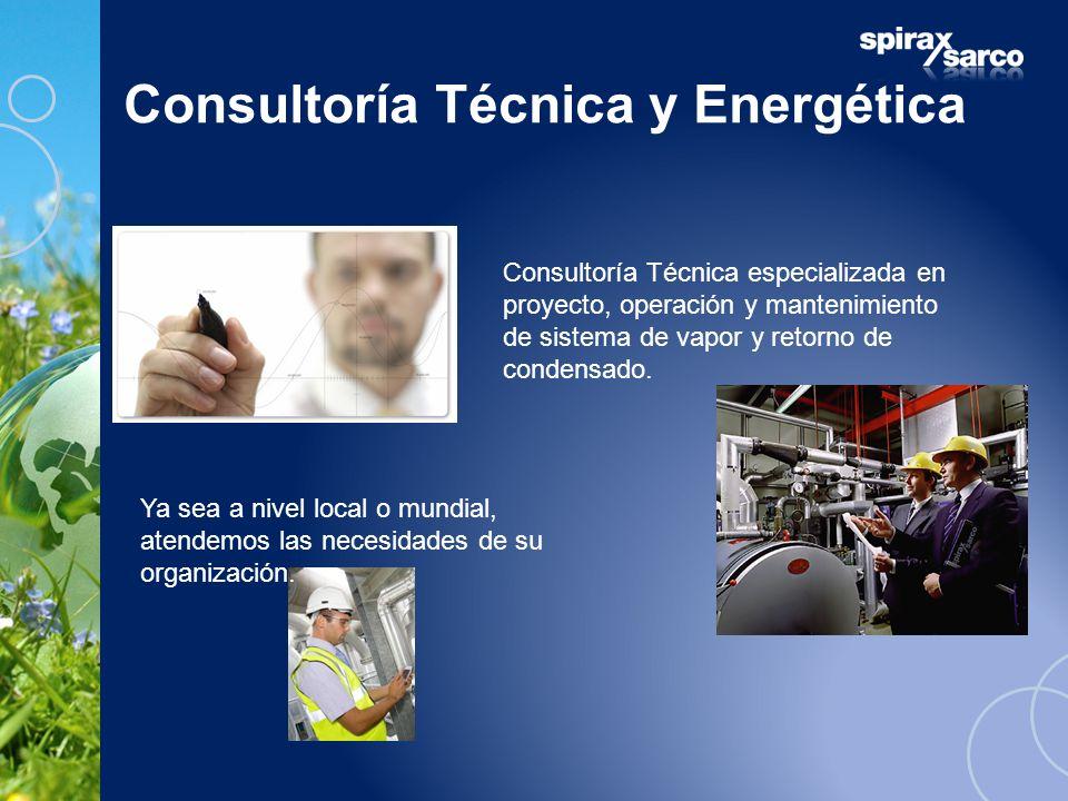 Consultoría Técnica y Energética Consultoría Técnica especializada en proyecto, operación y mantenimiento de sistema de vapor y retorno de condensado.