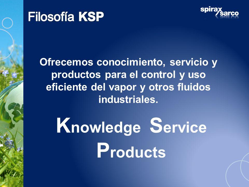 Ofrecemos conocimiento, servicio y productos para el control y uso eficiente del vapor y otros fluidos industriales. K nowledge S ervice P roducts