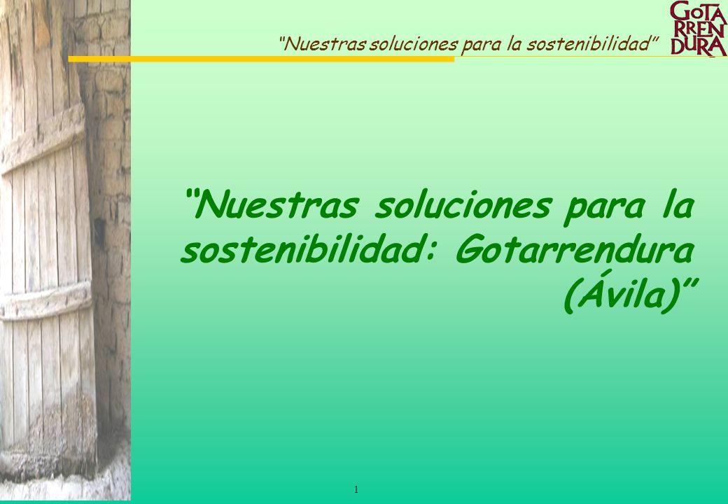 1 Nuestras soluciones para la sostenibilidad Nuestras soluciones para la sostenibilidad: Gotarrendura (Ávila)