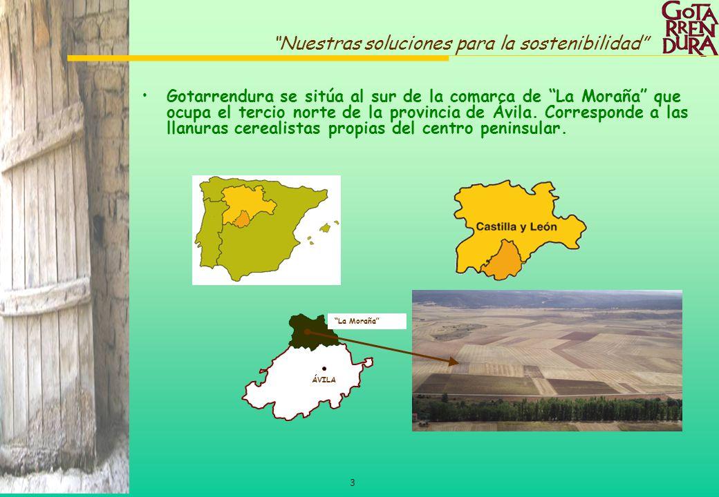 3 Nuestras soluciones para la sostenibilidad Gotarrendura se sitúa al sur de la comarca de La Moraña que ocupa el tercio norte de la provincia de Ávil