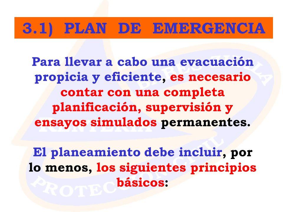 Para llevar a cabo una evacuación propicia y eficiente, es necesario contar con una completa planificación, supervisión y ensayos simulados permanente