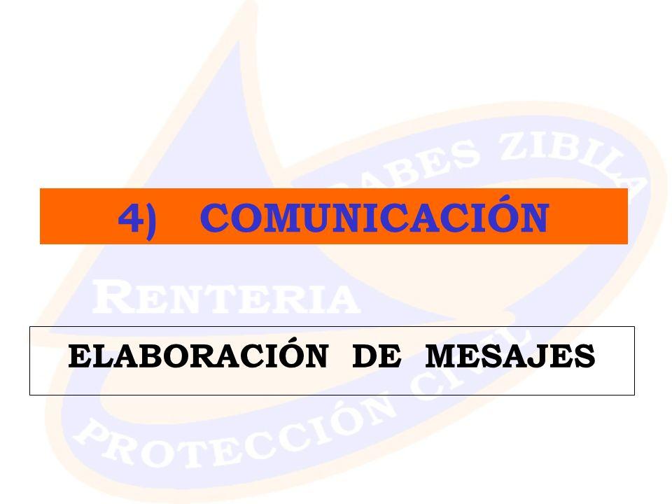 ELABORACIÓN DE MESAJES 4) COMUNICACIÓN
