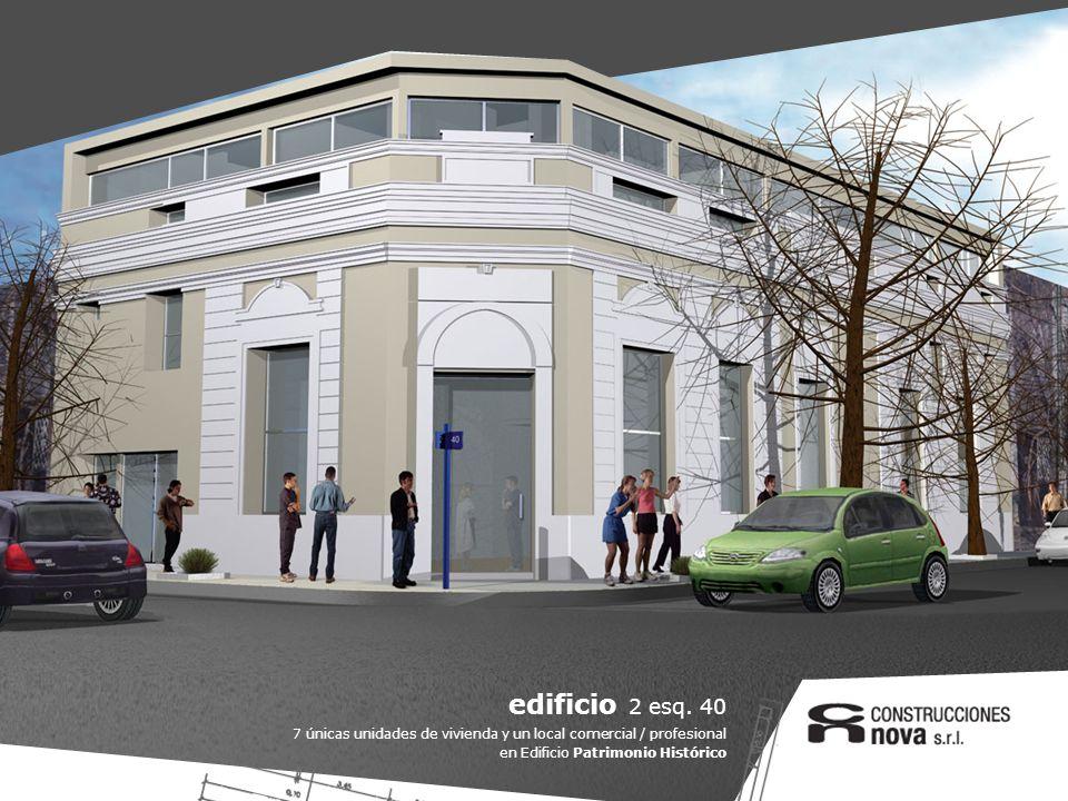 edificio 2 esq. 40 7 únicas unidades de vivienda y un local comercial / profesional en Edificio Patrimonio Histórico