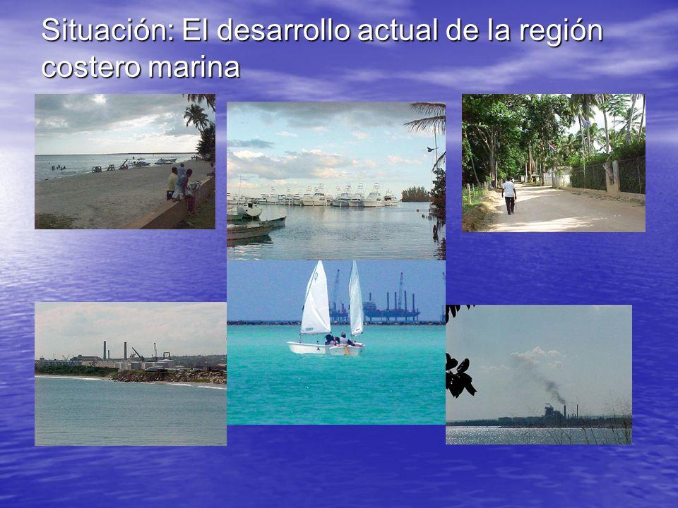Situación: El desarrollo actual de la región costero marina