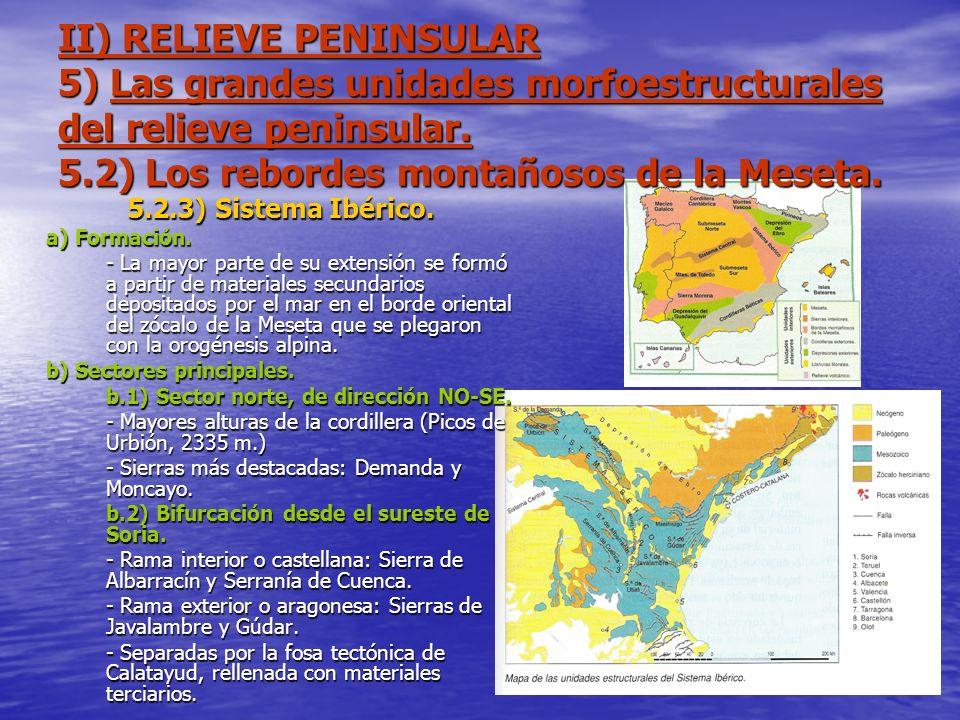 II) RELIEVE PENINSULAR 5) Las grandes unidades morfoestructurales del relieve peninsular. 5.2) Los rebordes montañosos de la Meseta. 5.2.3) Sistema Ib