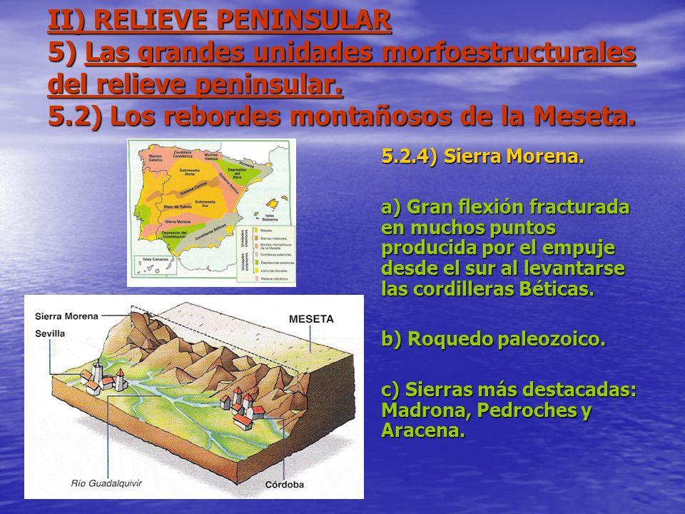 II) RELIEVE PENINSULAR 5) Las grandes unidades morfoestructurales del relieve peninsular. 5.2) Los rebordes montañosos de la Meseta. 5.2.4) Sierra Mor