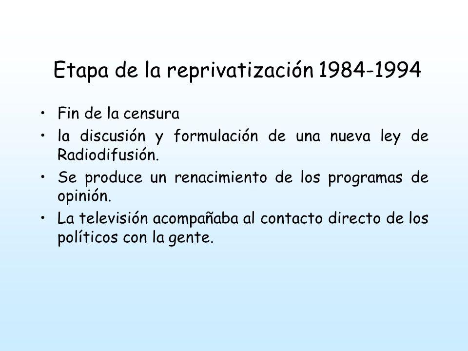 Fin de la censura la discusión y formulación de una nueva ley de Radiodifusión.