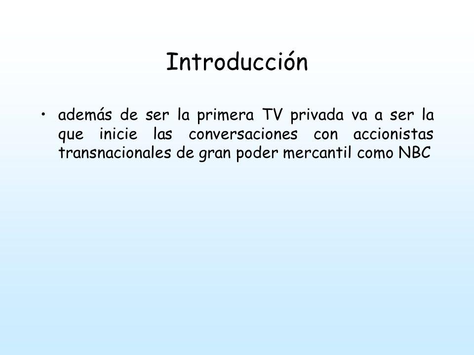 Introducción A comienzos de la década de los70 Televisa comienza a tener serios problemas económicos y los accionistas traspasan todos los equipos e instalaciones a un grupo de profesionales e incipientes empresarios de la TV cubana.
