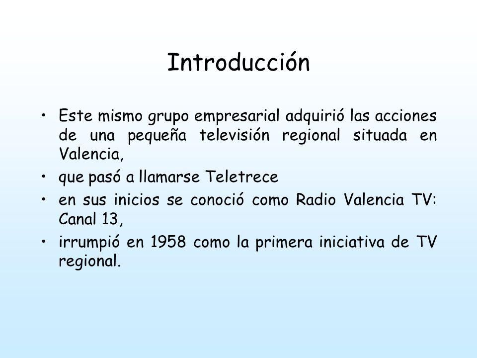 Introducción Ante la falta de rentabilidad y la excesiva centralidad de las inversiones publicitarias el canal se declaró en quiebra en 1962.