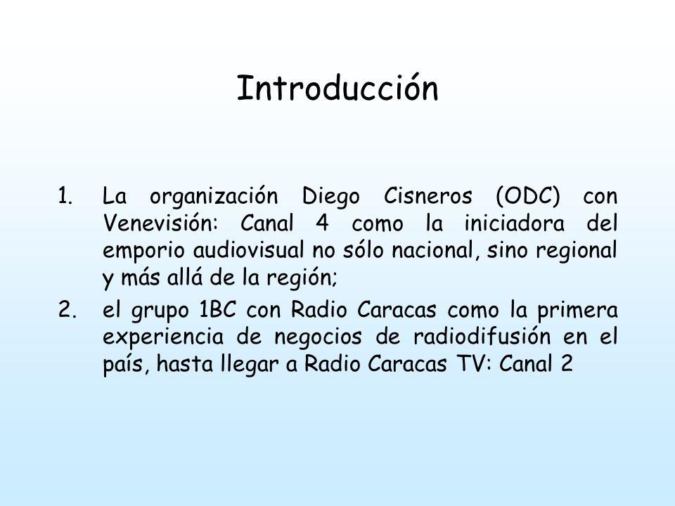 Introducción Para superar las dificultades se unieron a las grandes cadenas de radio y televisión: ABC; CBS; NBC o a otros grupos de igual origen pertenecientes al sector de las comunicaciones masivas.