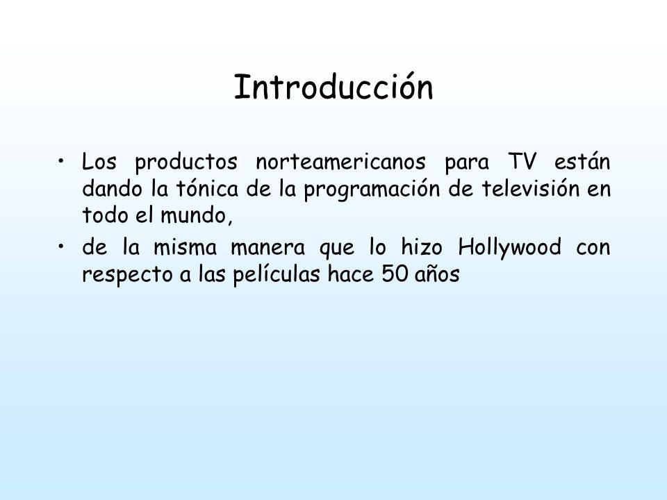 Introducción Los productos norteamericanos para TV están dando la tónica de la programación de televisión en todo el mundo, de la misma manera que lo hizo Hollywood con respecto a las películas hace 50 años