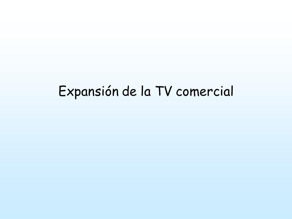 La expansión de la TV comercial coincide con el surgimiento del sistema democrático.