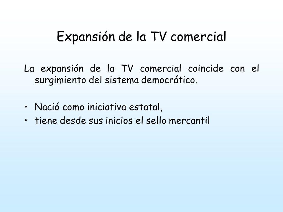 Expansión de la TV comercial La base para la TV en Venezuela ha sido copiado del modelo norteamericano.