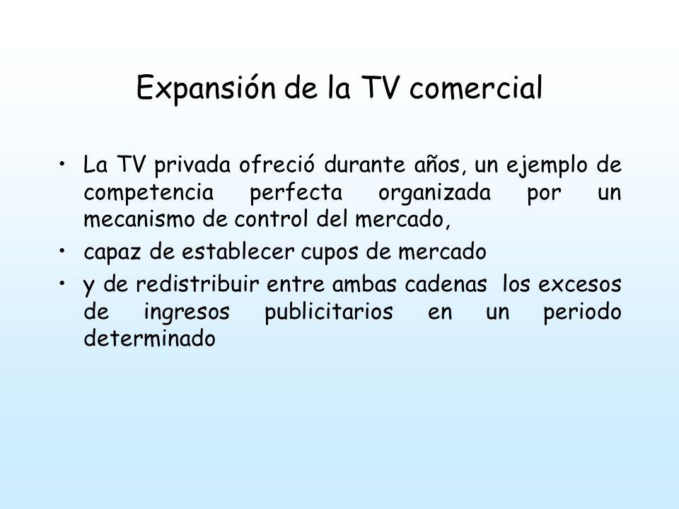 Expansión de la TV comercial De esta forma se constituirá el modelo de TV dominante hoy en Venezuela.