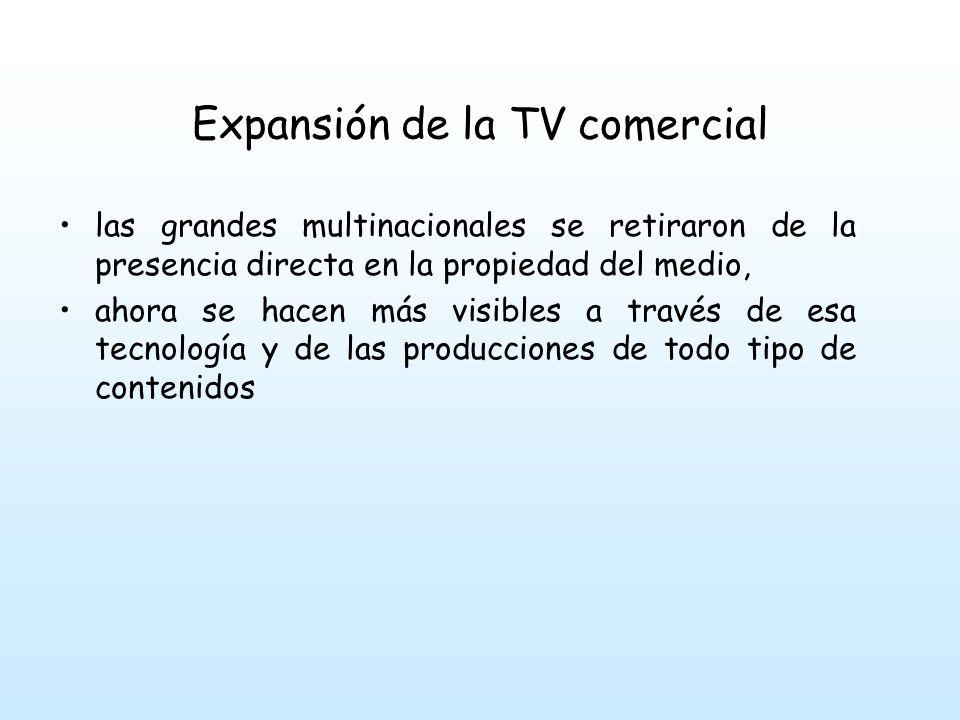 Expansión de la TV comercial en 1971 se inaugura las comunicaciones vía satélite y hace su entrada en el país la televisión internacional.