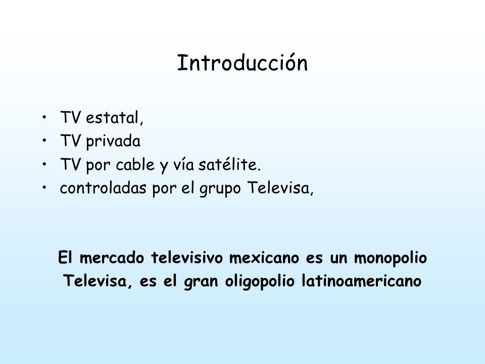 Introducción TV estatal, TV privada TV por cable y vía satélite.