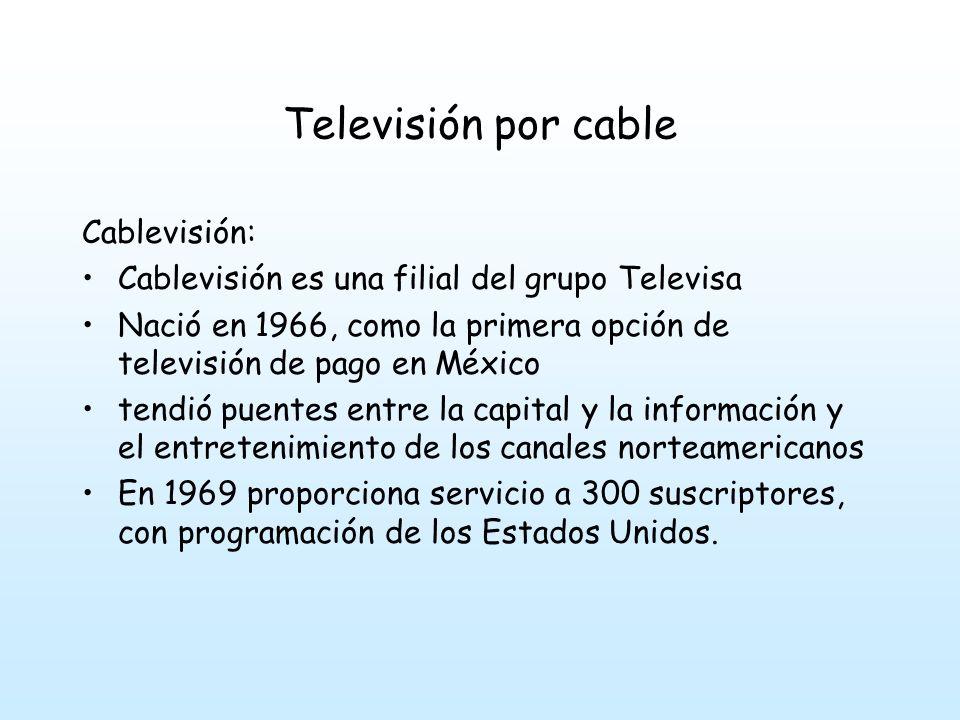 Televisión por cable Univisión: En 1961, el primer canal en español en Estados Unidos, para servir a la comunidad hispana.