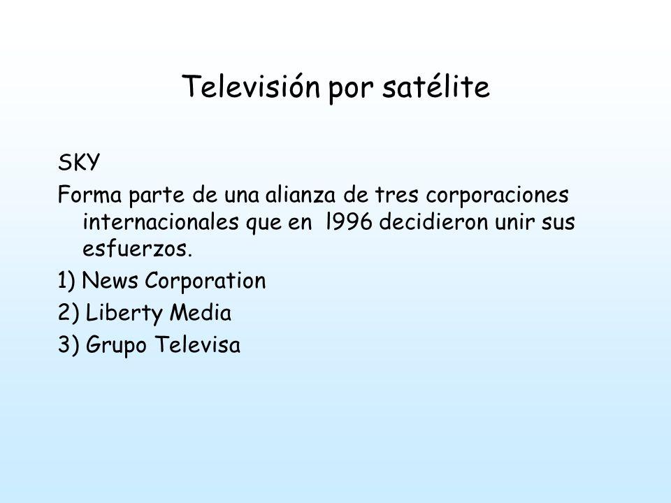 Televisión por satélite SKY: inició su transmisión en 1996.