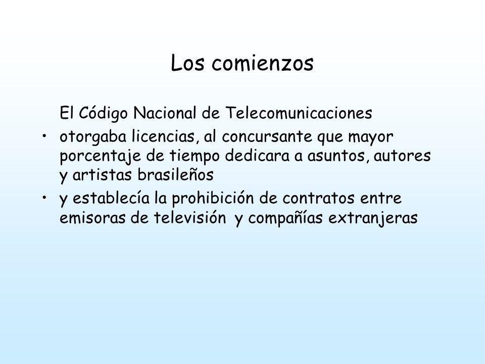 Los comienzos El patrocinio fue la características de los programas en los comienzos de la televisión.