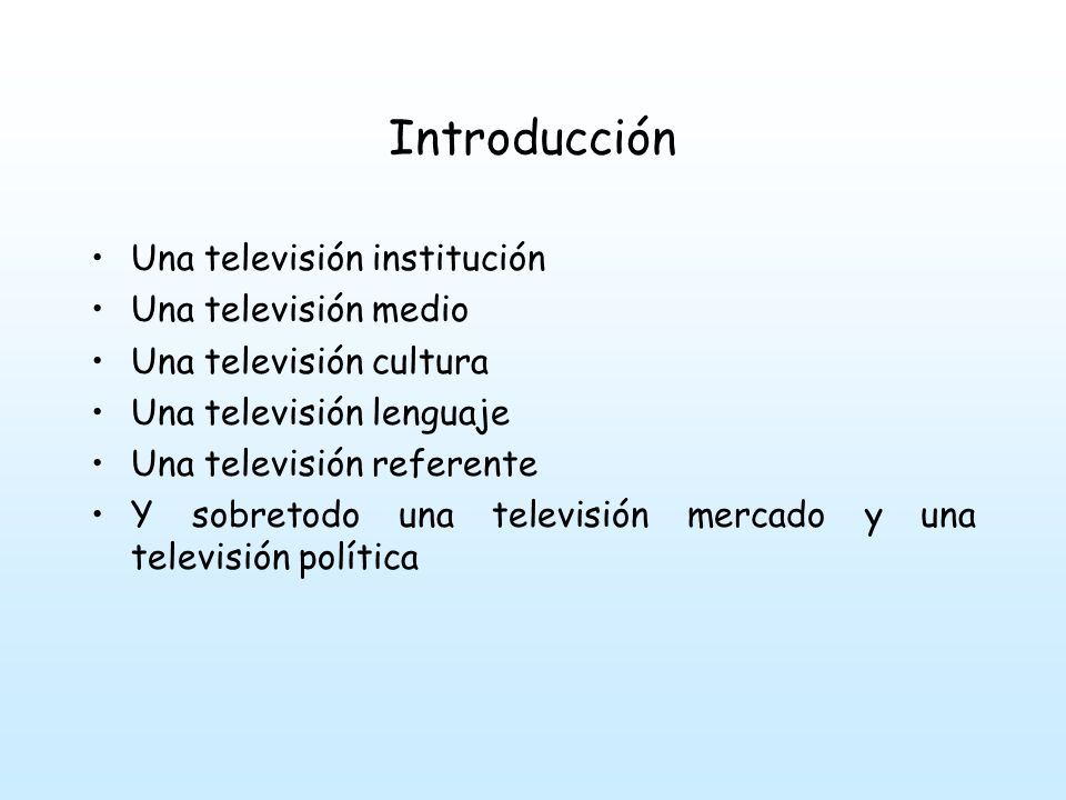 Introducción La televisión en la mayoría de los países de LA se ha consolidado como una de las industrias más importantes desde hace al menos dos décadas