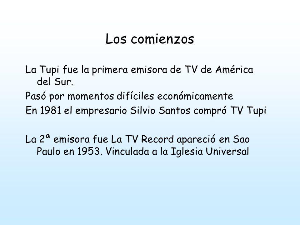 Los comienzos La Tupi fue la primera emisora de TV de América del Sur.
