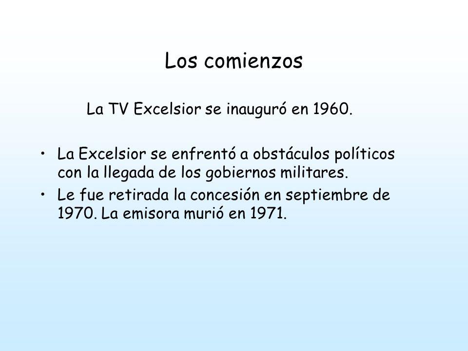 Los comienzos La TV Excelsior se inauguró en 1960.