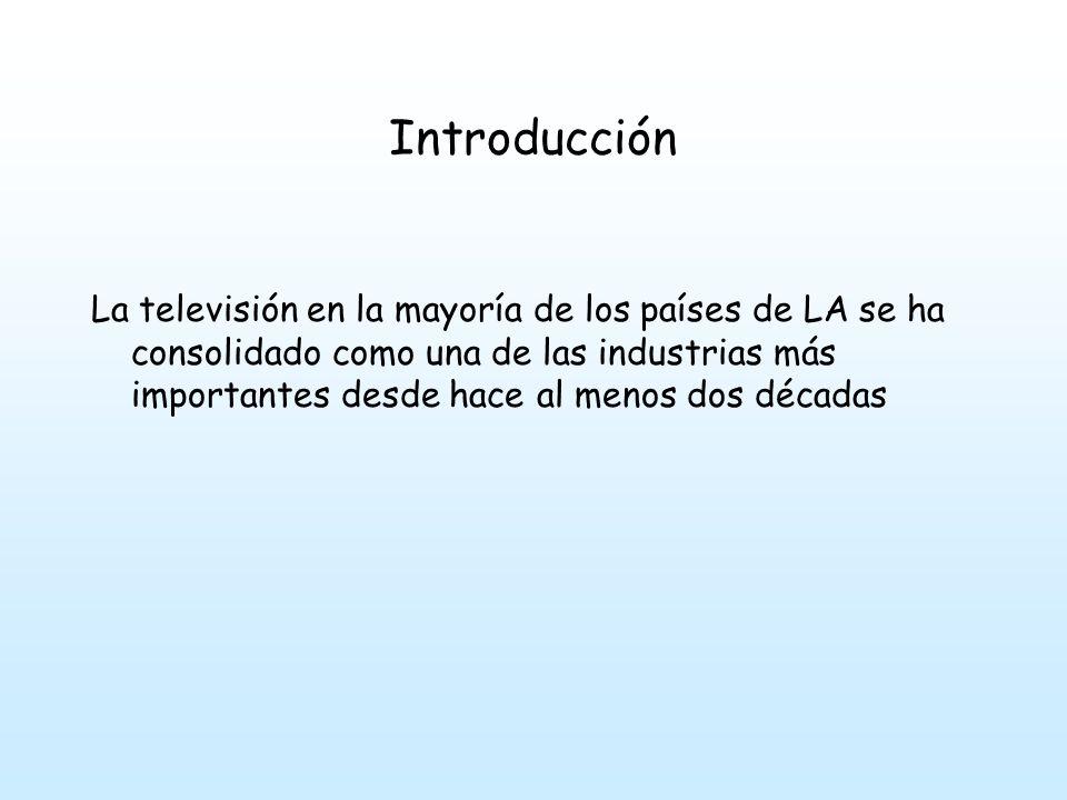 Introducción Rede Globo en Brasil Televisva en Méjico Monopolios nacionales – Oligopolios internacionales Imperios Audiovisuales en Portugal y España