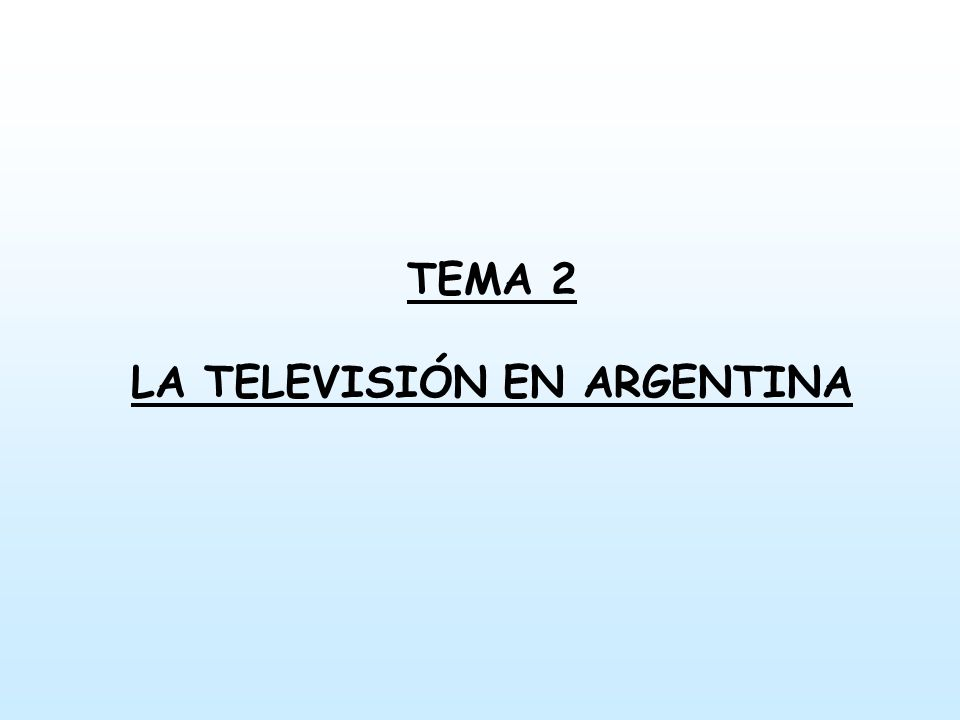 Introducción La televisión en Argentina nace en 1951, En el marco de expansión de los medios durante el peronismo.