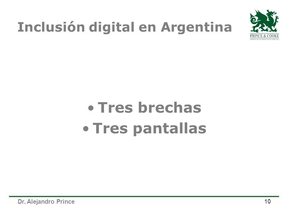 Inclusión digital en Argentina Tres brechas Tres pantallas 10