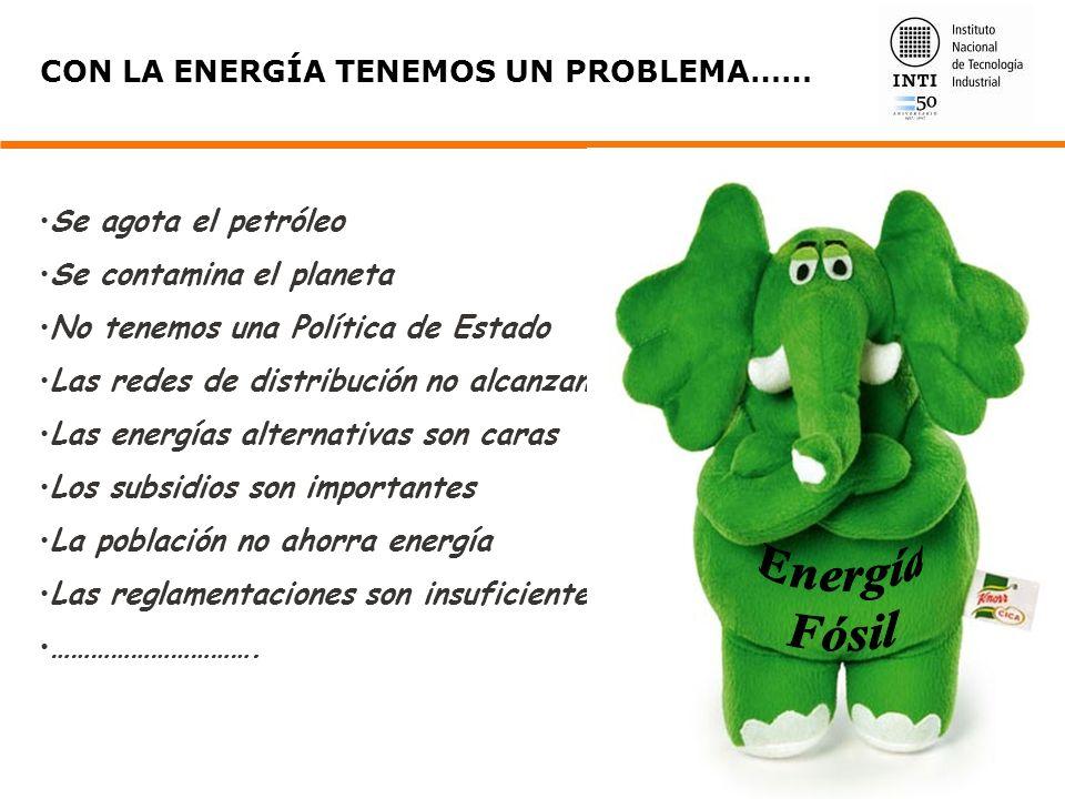CON LA ENERGÍA TENEMOS UN PROBLEMA…… Se agota el petróleo Se contamina el planeta No tenemos una Política de Estado Las redes de distribución no alcan